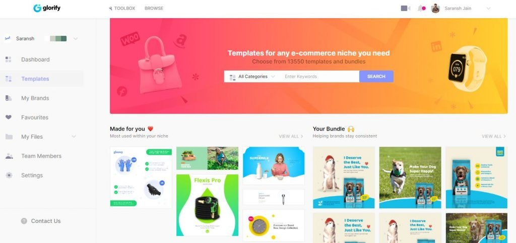 What is new in GlorifyApp 2.0? Best Ecommerce Design Tool Online 1