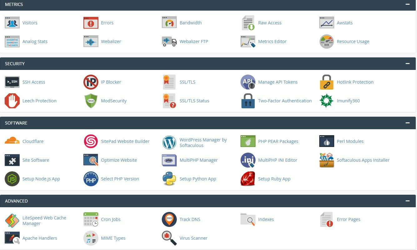 interserver hosting cpanel